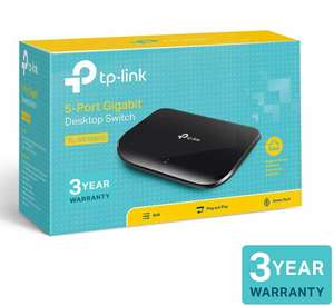 TP-Link TL-SG1005D 5-Port Desktop Gigabit Ethernet Switch/Hub, Network Splitter - £9.99 (Prime) / £13.48 (Non Prime) delivered @ Amazon