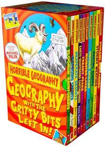 Horrible Geography 10 Book Collection with a Free Selected Kids Book for £5.50 Delivered at Books2Door