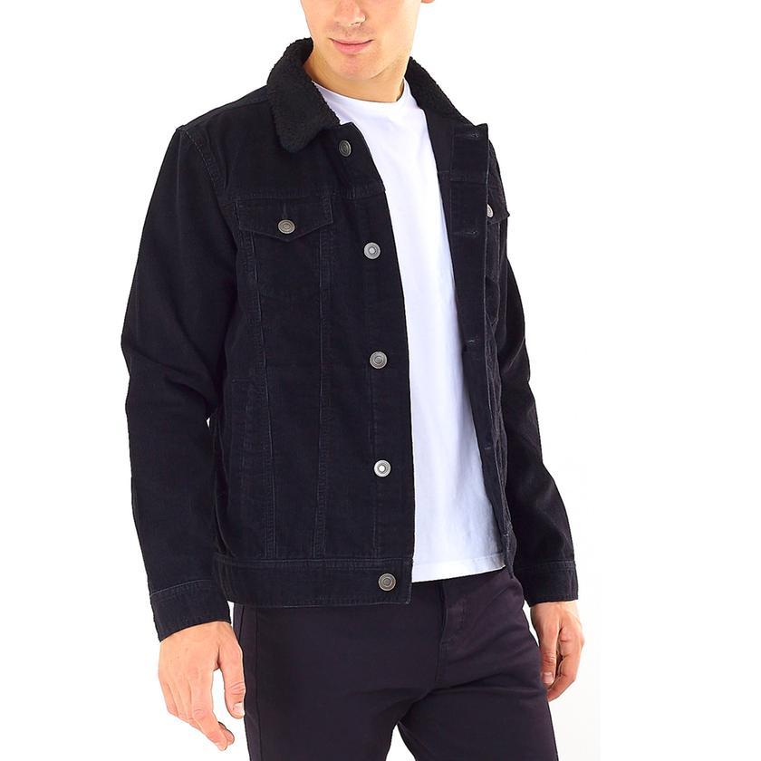Brave Soul Men's Cord Jacket in Black or Tan £10.08 delivered @ Groupon