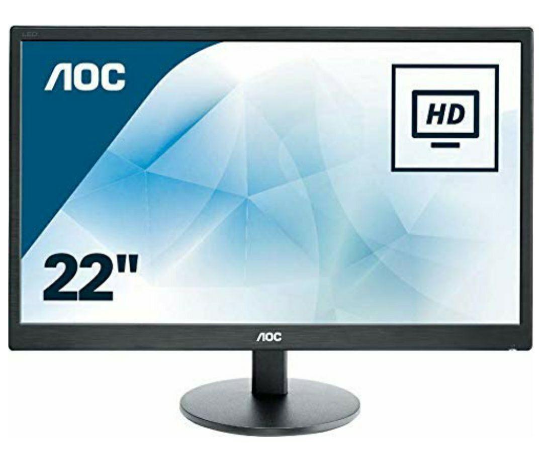 """AOC E2270SWHN 21.5"""" LED FHD (1920x1080) 5ms monitor. (VGA, HDMI) - Black £67.98 Amazon"""