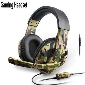 comfast Camouflage 3.5MM wired gaming headphones with mic for £9.69 delivered @ AliExpress Deals / Thunderstruck Digital Store