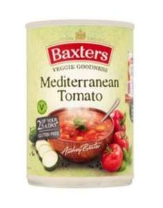 Baxters soups (including gluten free) £1.15 or 2 for £1.50 at Tesco, online and in store.