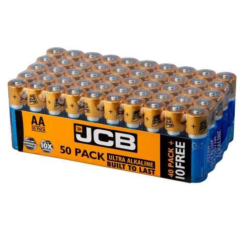 JCB Ultra Alkaline AA Batteries - Extra Value 50 Pack - £10.99 delivered @ 7DayShop