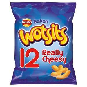 Walkers 12 pack Quavers, Squares, Wotsits, French Fries, Monster Munch 12 pack - £1.47 @ Tesco