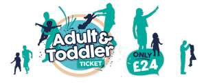 ADULT AND TODDLER DAY TICKETS £24 @ Drayton Manor Park Weekdays (Outside School Holidays)
