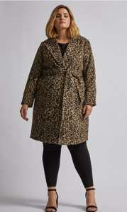 DP Curve Brown Leopard Print Wrap Coat £20 Dorothy perkins +£3.95 delivery or free collect from store