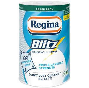 Regina Blitz Kitchen Towel single roll of 100 sheets £1.50 in Wilko (online & in-store)