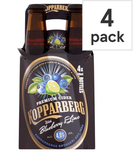 Blueberry and lime kopparberg 4 x 330ml pack £1.99 B&M bargains Bolton burnden park