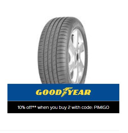 10% Off Goodyear efficient grip tyres. When you buy 2+ @ Kwik fit