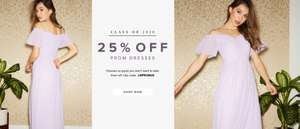 25% off Prom Dresses with voucher code @ Little mistress