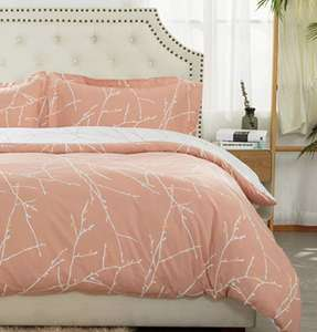 Bedsure Printed Duvet Cover (Cream/Navy/Pink/White) with Zipper (Double/King) £8.40 prime / £12.89 NP Bedsure EU and Fulfilled by Amazon.