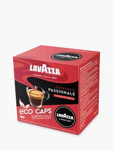 Lavazza Passionale A Modo Mio Espresso Eco Capsules, Pack of 16 £3 + £3.50 delivery / £2 Collected @ John Lewis & Partners