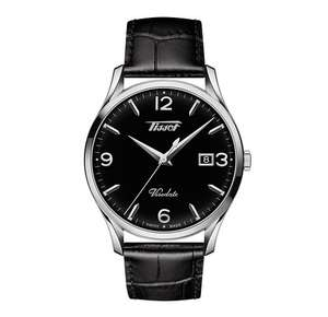 Tissot Visodate Men's Black Leather Strap Watch £170 (£153 with newsletter signup) @ Ernest Jones