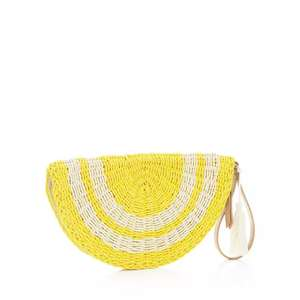 Mantaray yellow straw hive clutch bag (Free Collection) from £3 @ Debenhams