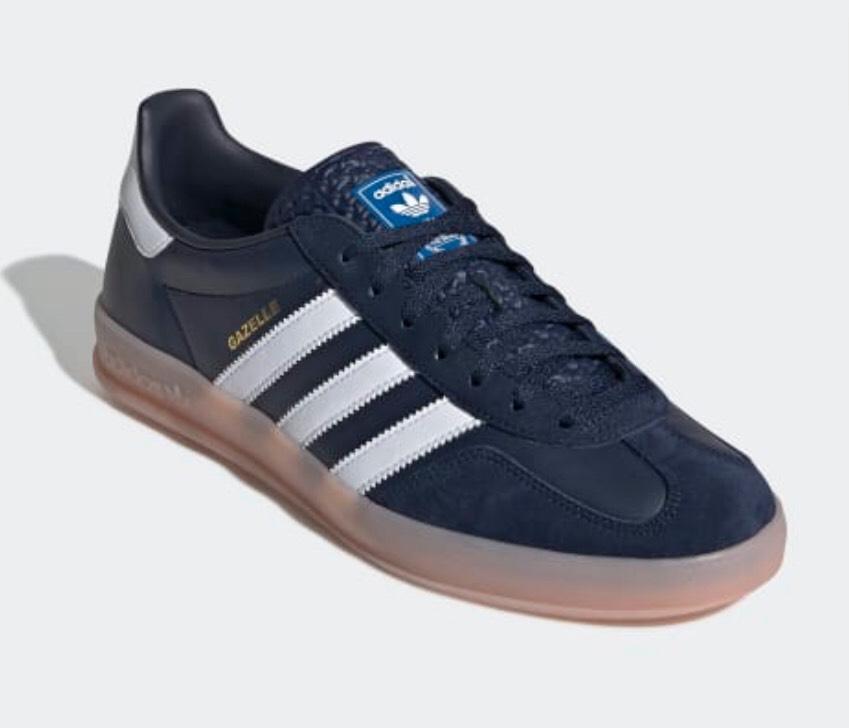 Adidas gazelle indoor premium leather uk5-12 down to £52.47 @ adidas