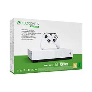 Xbox One S 1TB All Digital Edition Console incl' Minecraft, Sea of Thieves, Fortnite-Skin £122.40 (£119 with fee free card) @ Amazon Germany