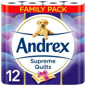 Andrex supreme quilt 12 pack £3.30 @ Tesco (Alloa)