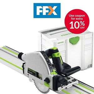 Festool 561583 TS55 REBQ-Plus-F 240v Plunge Saw, FS1400 Guide Rail + Systainer 4 - £360 delivered using code @ FFX / eBay