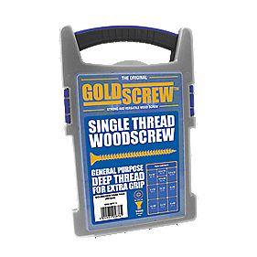 Goldscrew PZ Double-Countersunk Woodscrews Trade Case Grab Pack (1000 Pcs) - £9.99 c&c @ Screwfix