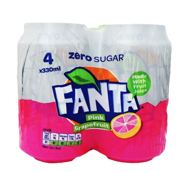 Fanta grapefruits zero sugar 4pk 49p @ B&M Redditch