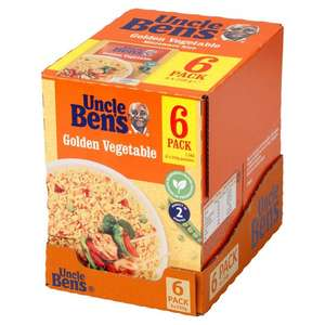 Uncle Ben's Golden Vegetable Microwave Rice 6 X 250G £3.50 at Tesco Walsall