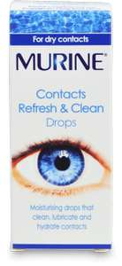 Murine Contacts Refresh & Clean Drops down to 10p in Superdrug