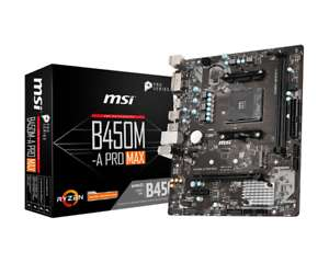MSI B450M-A PRO MAX mATX Motherboard for AMD AM4 CPUs £58.73 at cclcomputers ebay