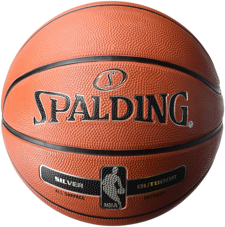 Spalding NBA Silver Outdoor Basketball Size 5 £12 23 / Size 7 £12.69 (+£4.49 Non-prime) @ Amazon