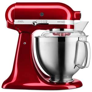 KitchenAid Artisan Mixer 4.8L 185 (Candy Red) -+ Glass Bowl and Ice Cream Mixer Attachment £449 @ eCookshop
