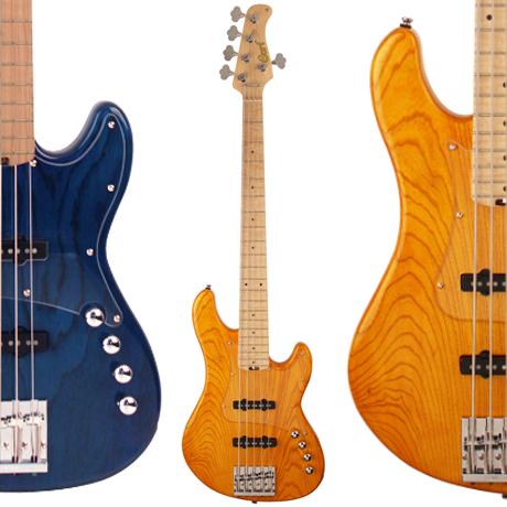 Cort GB75JJ - 5 String Bass Guitar - Amber or Aqua Blue - £399 Delivered @ Kenny's Music