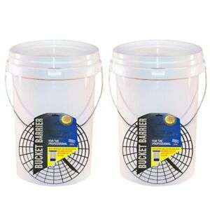 20L x2 professional car detailing buckets with grit guards - £19.90 With code & Free Del @ eBay / carpartsbargains