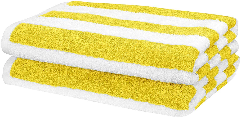 AmazonBasics Set, Yellow, 2 Beach Towels £10.29 + £4.49 nonPrime at Amazon
