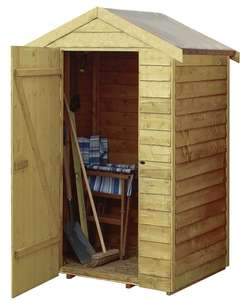 Rowlinson 4 x 3 ft Overlap Wooden Shed + 15 Year Guarantee - £100 delivered @ Wickes