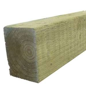 Travis Perkins Incised Pressure Treated Fence Post UC4 Green 100mm x 100mm x 2400mm £10.80 Travis Perkins - FREE Click & Collect in 1 hour