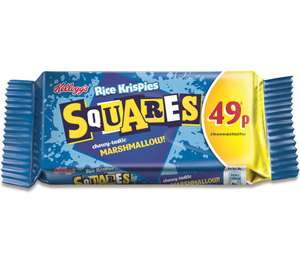 6 Kelloggs Rice Krispies Squares - Marshmallow or Chocolatey for £1 at Heron foods