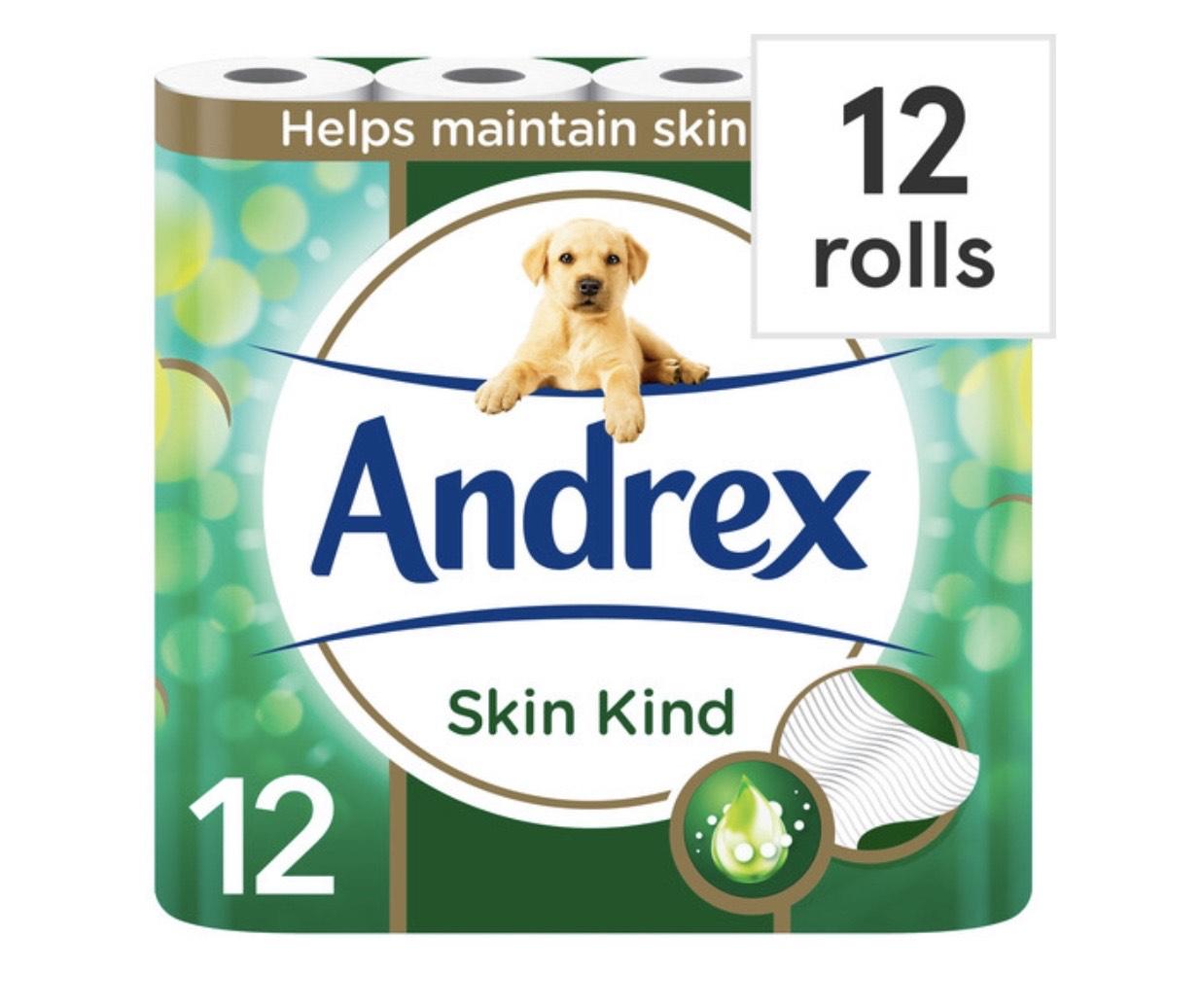 Andrex skin kind 12 pack of toilet rolls £2.75 instore Tesco Hanley