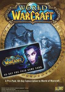 World of Warcraft 60 Day Pre-paid Game Card PC/Mac £16.99 @ cdkeys