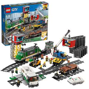 LEGO 60198 City Cargo Train Set Battery Powered Engine £126 delivered at Amazon