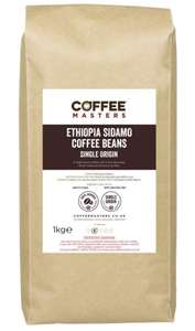 Coffee Masters Ethiopia Sidamo Coffee Beans 1kg £12.99 (Prime) / £17.48 (non Prime) Sold by Coffee Masters UK and Fulfilled by Amazon