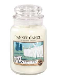 Yankee Candle Large Jar - Clean Cotton £13 @ Very + £2 click and collect