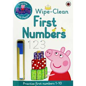 Peppa Pig wipe clean First Numbers... Free click and collect £3 @ The works