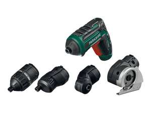 Parkside 4V Li-Ion Cordless Screwdriver with Attachments £19.99 @ Lidl