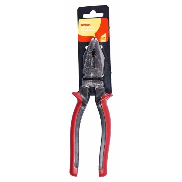 """Am-Tech 8"""" Combination Plier Dual Colour Handle delivered for £2.08 at Carparts4less"""