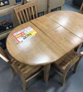 Banbury Table & 4 Chairs £124.50 (Approx 30 in stock) at Homebase Mold Store