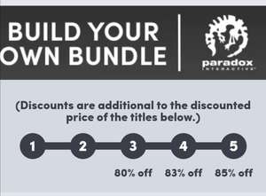 PARADOX BUILD YOUR OWN Bundle & Get up to 85% off @ Humble Bundle (Activate on Steam)