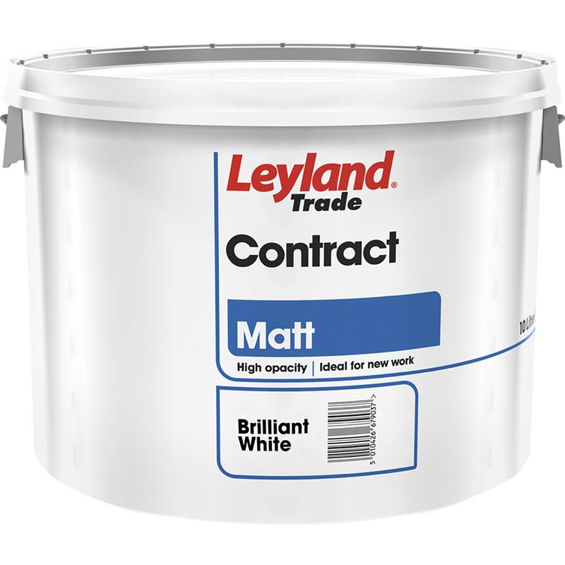 Leyland Trade Contract Matt Emulsion Paint 10L Brilliant White 2 for £25 @ Toolstation