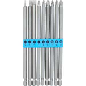 Extra Long Professional Quality 9 Screwdriver Bit Set - £3.74 + Free Click & Collect @ Toolstation
