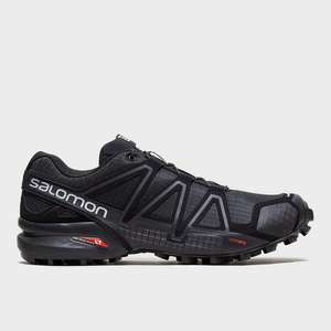 Salomon Men's Speedcross 4 Trail Running Shoes, Black £44.99 with code @ Millets