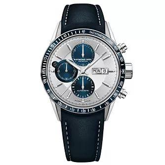 Raymond Weil Freelancer Men's Blue Leather Strap Watch £1266.50 at Ernest Jones