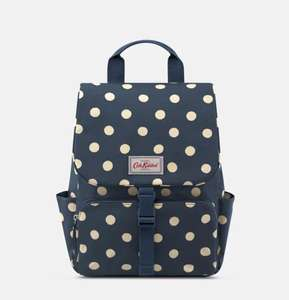 Cath Kidston up to 50% off mid seasons sale example Navy spot backpack £20 @ Cath Kidston